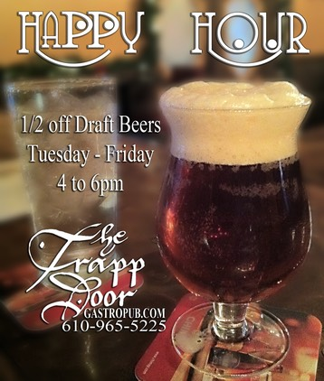 Half off drafts trapp door & The Trapp Door Drink Menu. Emmaus PA
