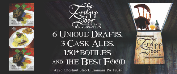 The Trapp Door Banner Large & Seasonal Fresh Food Craft Micro Beers Cask Ale | Trapp Door ...